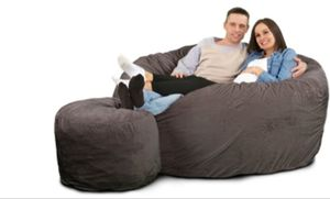 The Ultimate Sack Bean Bag Chair & Footstool (Black) for Sale in Fort Washington, MD