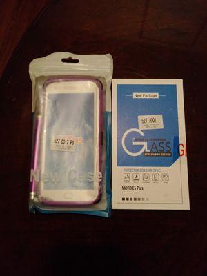 Moto e5 Plus Glass Protector & Case for Sale in Richmond, CA