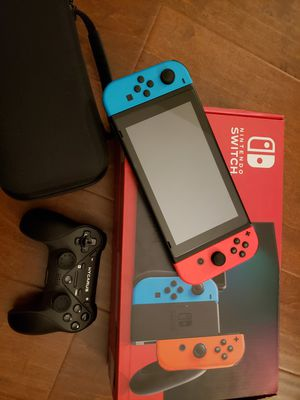 Nintendo Switch v2 Neon Blue and Red 400gb for Sale in Fullerton, CA