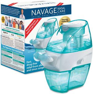 New Navage Nasal Hygiene Essentials Bundle: Navage Nose Cleaner, 40 SaltPod Capsules, and Countertop Caddy. 126.90 if Purchased Separately for Sale in Chino, CA