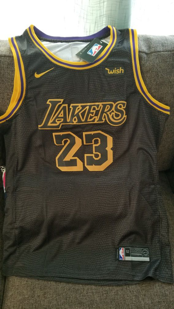 premium selection 8d3b3 0ae09 LeBron James Black Mamba Edition lakers jersey for Sale in Anaheim, CA -  OfferUp