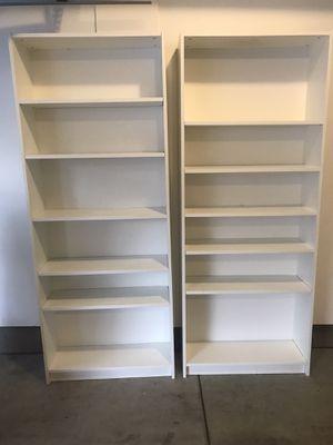 Two white IKEA bookshelves for Sale in Garden Grove, CA