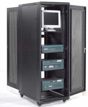 Network Server Data Rack Enclosure Cabinet with Vented Doors, 37U, Assembled for Sale in undefined