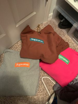 supreme box logos all size L got stock x tag on em also for Sale in Wesley Chapel, FL
