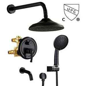 """Shower System, Wall Mounted Shower Faucet Set for Bathroom with High Pressure 8"""" Rain Shower head,3-Setting Handheld Shower Head Set and tub spout for Sale in Alta Loma, CA"""