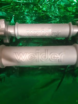 Weider plastic STANDARD THREADED DUMBBELL HANDLES, PAIR for Sale in St. Louis, MO