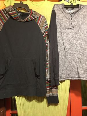 2 Men's Long Sleeve Pull Over Shirts Size Large for Sale in Altadena, CA
