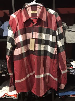 XXL 150$ each Burberry men's long sleeve for Sale in Austin, TX