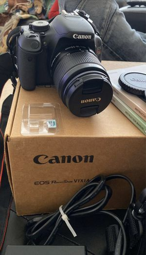 Canon EOS Rebel T3i Digital SLR Camera with EF-S 18-55mm for Sale in Los Angeles, CA