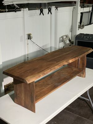 Wood bench real solid acacia wood for Sale in Tampa, FL