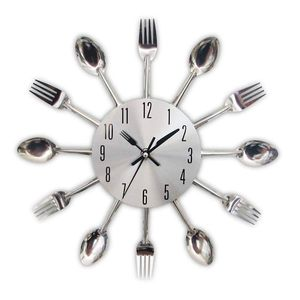 Kitchen Wall Clock Cook Chef Utensils Fork Spoon Unique Modern Home Decor Cutlery for Sale in Santa Fe, NM