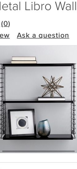 White Metal 3 Wall Shelf From Container Store for Sale in Coppell,  TX