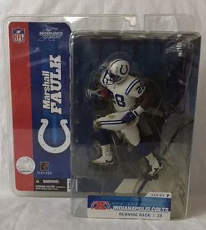 2003 Marshall Faulk Indianapolis Colts NFL Football White Jersey Variant Series 7 Mcfarlane Action Figure BRAND NEW for Sale in Citrus Heights, CA