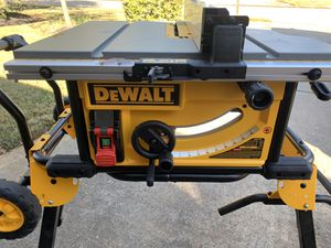 DEWALT 15-Amp Corded 10 in. Job Site Table Saw with Rolling Stand - comes as pictured - NEW for Sale in Spring, TX