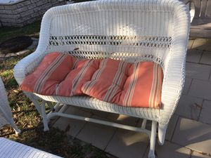 Hampton Bay white resin wicker patio furniture for Sale in Pinellas Park, FL