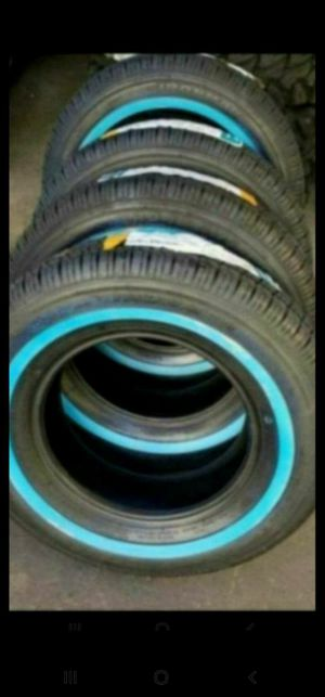 4 New 235-75-15 Tires 235/75/15 Tire R15 with 1 inch white wall / full blackwall for Sale in Moreno Valley, CA