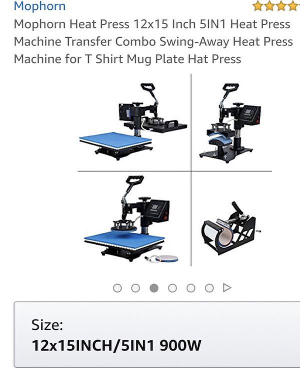 Mophorn Heat Press Machine (Box Never Opened) for Sale in Houston, TX -  OfferUp