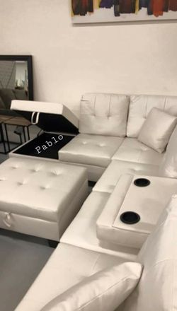 🎉SaMe DaY DeLiVeRy🎉🏺Brand New🔥39$ Down Payment👆🏻[SPECIAL] Pablo White Sectional | U5300 by Global for Sale in Washington,  DC
