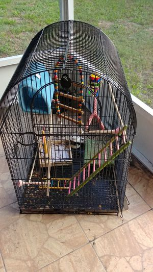 Bird cage 36X23x23. Comes with accessories shown for Sale in Merritt Island, FL