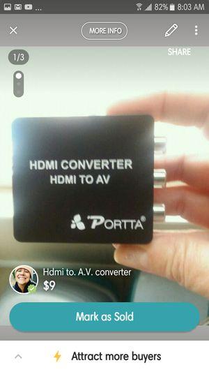 Porta hdmi converter for Sale in Peoria, IL