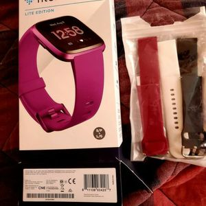 Fitbit Versa Lite Mulberry Color Sm And Lg Bands for Sale in Dallas, TX