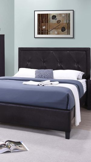 Brand New King Size Leather Platform Bed Frame ONLY for Sale in Silver Spring, MD