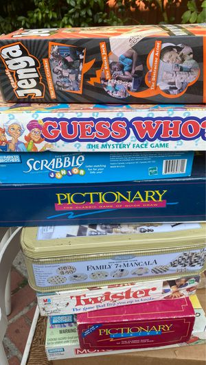 Family games, puzzles, and rainbow loom with supply. for Sale in Whittier, CA