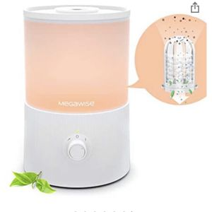 MEGAWISE Cool Mist Humidifiers for Bedroom with Removable Demineralization Water Filter, 1 Gal Essential Oil Diffuser with 7-Color Night Light for Bab for Sale in Anaheim, CA