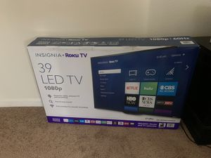 Brand new Insignia Roku Tv 39 LED TV 1080p for Sale in Soledad, CA