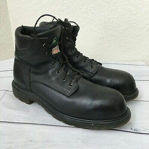 Red Wing Work Boots black leather steel-toe elect-haz Size 12-wide for Sale in Chicago, IL