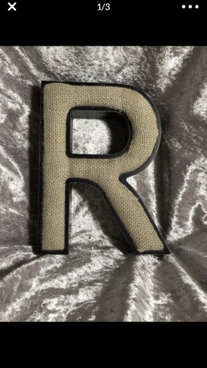 R letter metal burlap pin cushion? 7 inch X 6 inch for Sale in Portland, OR