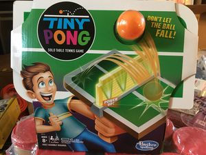 Hasbro Tiny Pong Solo Table Tennis Kids Electronic Handheld Game Ages 8 and Up for Sale in Chapel Hill, NC