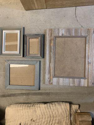 Wooden Rustic Phot Frames Set for Sale in Washington, DC