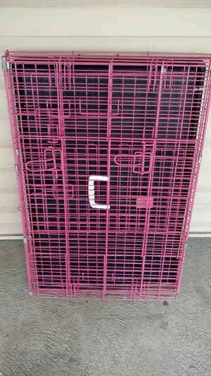 36in long pink large folding dog crate kennel for Sale in Columbus, OH