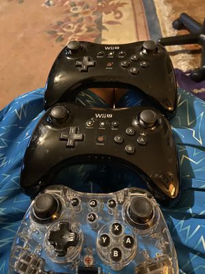 WII U pro controllers for Sale in Fresno, CA