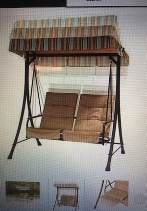 2 seat swing with pullout ottomans. Brand new for Sale in Boston, MA