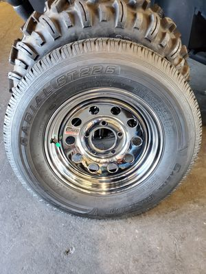 New Trailer Wheels and Tires 5 Lug 13x4.5 for Sale in Lynwood, CA