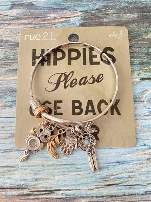 Rue 21 Silver Plated Charms Bracelet/ Bangle for Sale in New York, NY