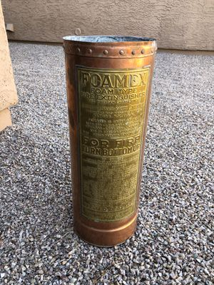 Copper Fire Extinguisher for Sale in Glendale, AZ