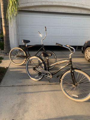 Beautiful him and her Diamond back beach cruiser bikes for Sale in Fresno, CA
