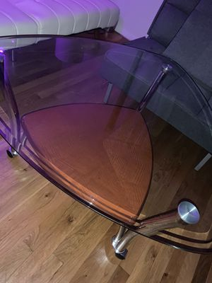 2 level glass/wood coffee table for Sale in New York, NY