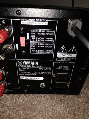Yamaha RX-V995 Amplifier for Sale in Arlington, VA