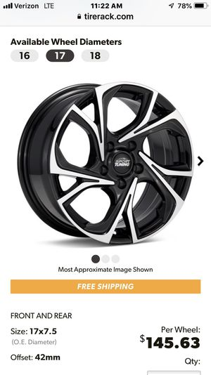 $225 for set of 4 Sport Tuning T23 rims/black accent 17in for Sale in Winter Garden, FL