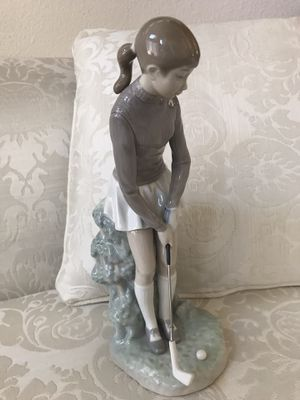 Vintage Figurine Lladro Female Golfer Player No Damage for Sale in San Diego, CA