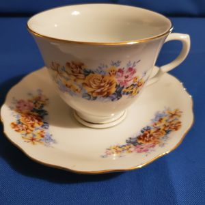 Vintage teacup and saucer set made in China for Sale in Kent, OH