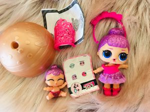 Rare sugar queen lol doll and lil sis for Sale in Fort Pierce, FL