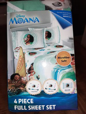NEW Moana Full Suze Bedding Set! for Sale in Spring, TX