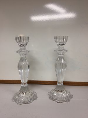 Heavy Crystal Candle Sticks for Sale in Shawnee Hills, OH