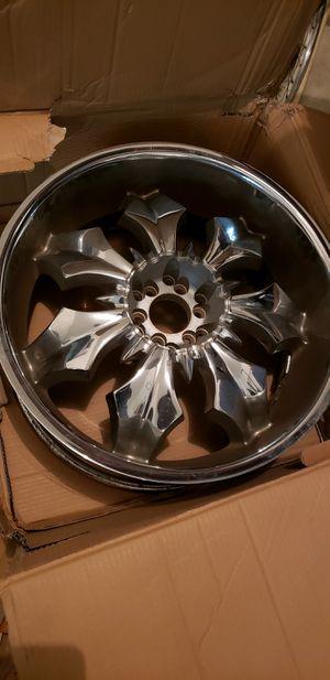 22 inch chrome truck wheels for Sale in Grand Prairie, TX