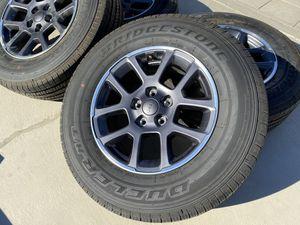 "18"" 2020 Jeep Gladiator wheels Overland Package Bridgestone Dueler 255/70/18 Jeep Wrangler for Sale in Rancho Cordova, CA"